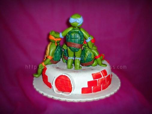 Bolo das Tartarugas Ninja