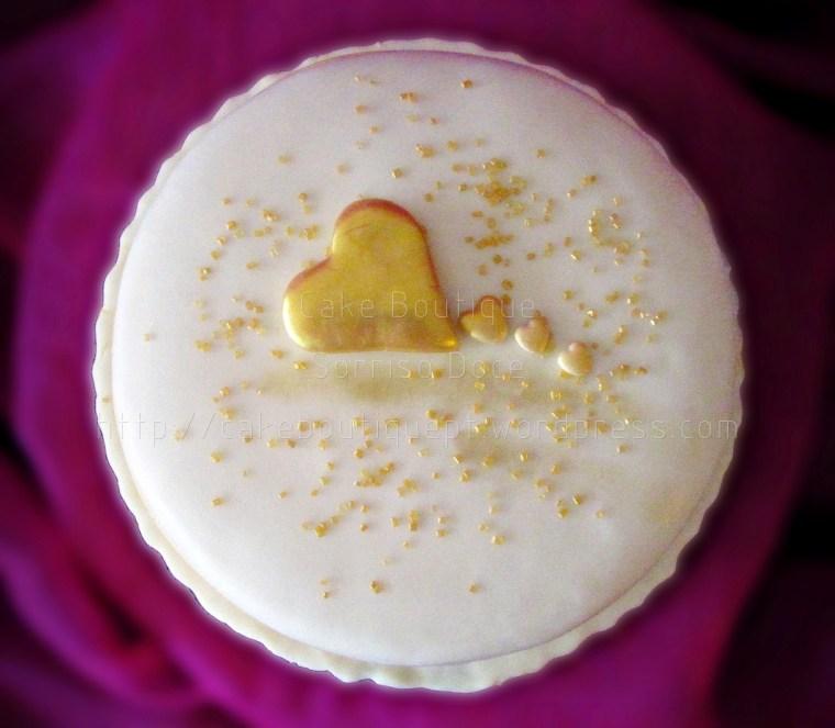 Bolo do Coração Dourado