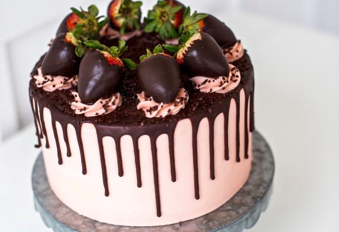 Cake By Courtney Strawberry Dark Chocolate Truffle Cake