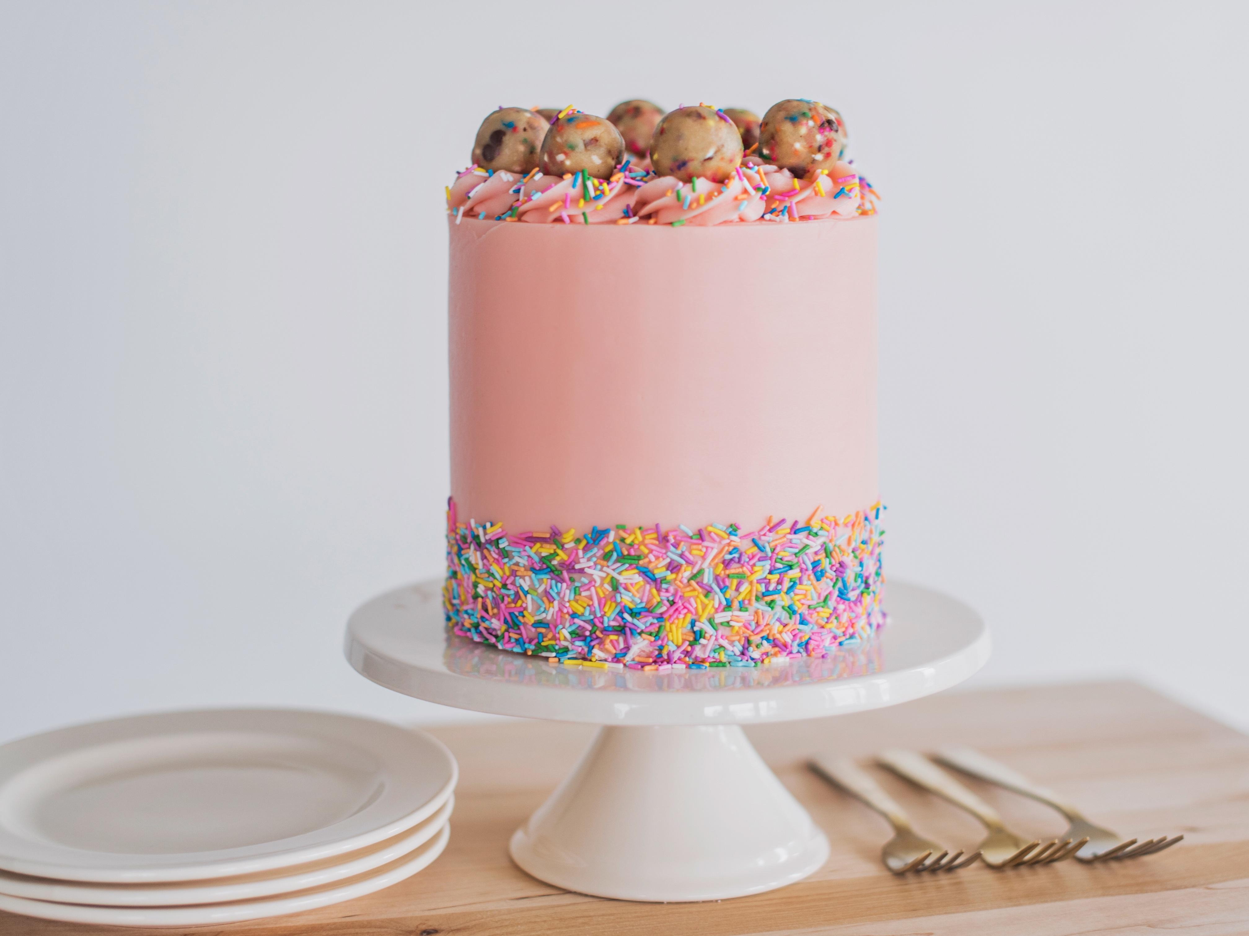 Sprinkle Cookie Dough Cake Cake By Courtney