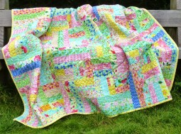 Rail fence style quilt