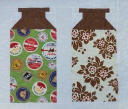 Milk Cow Kitchen patchwork quilt detail