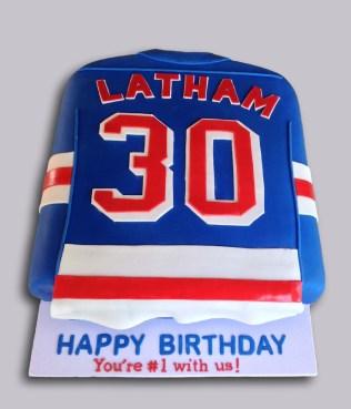 NY Rangers Jersey Cake