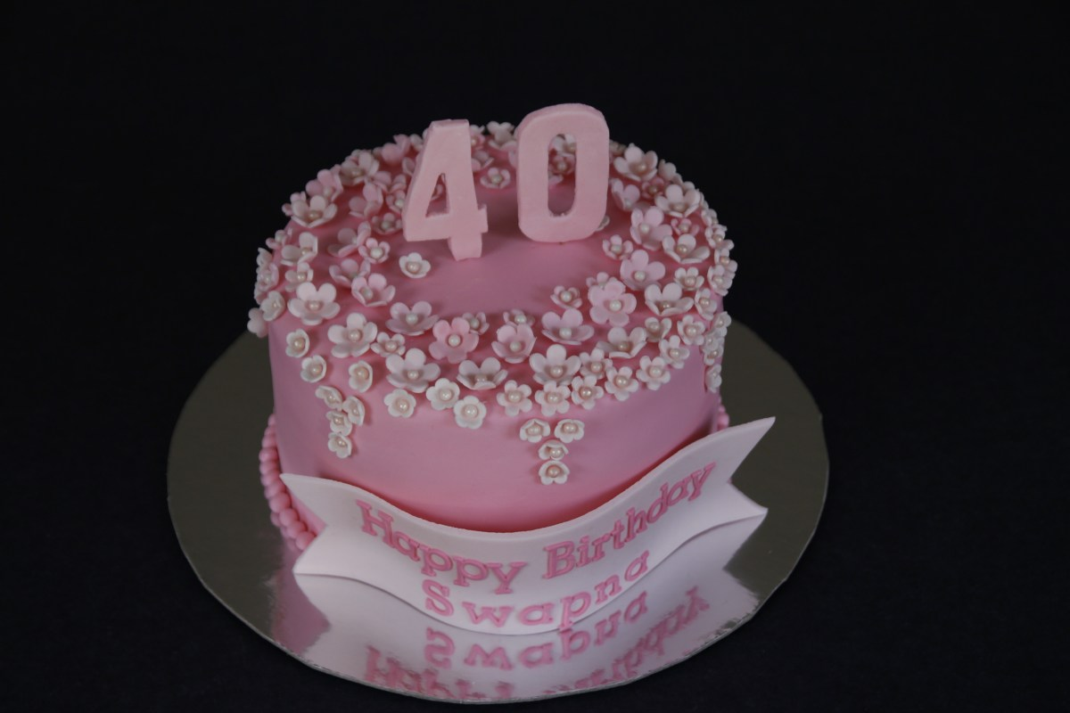 40th Birthday Flower Cake