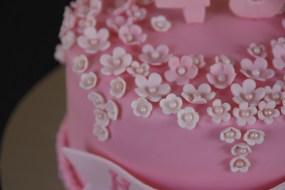 40th Birthday Flower Cake