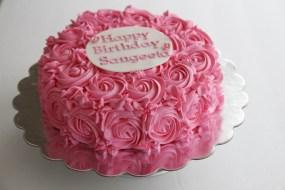 Hot Pink Rose Cake