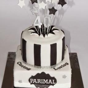 40th Birthday Explosion Cake