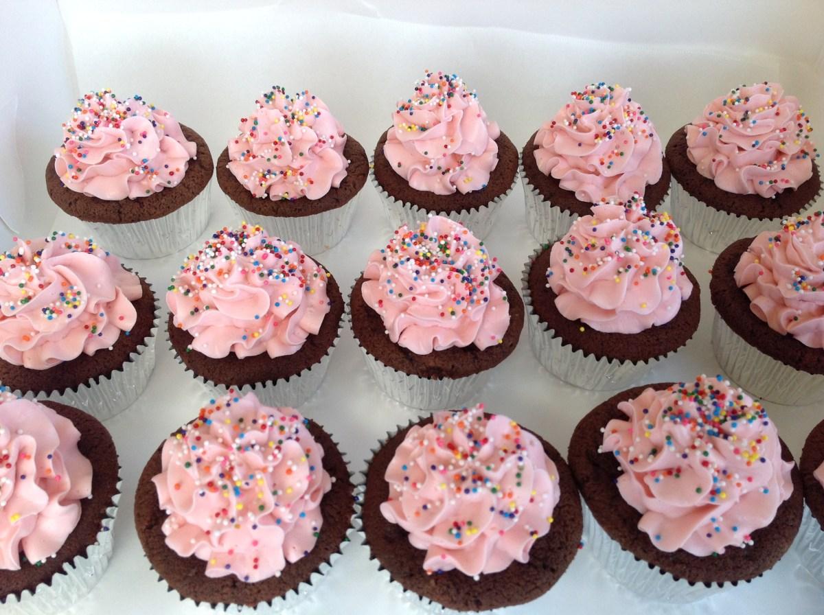 Sprinkle Themed Cupcakes