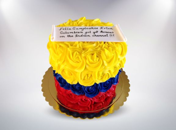 Colombian Flag Rose Cake