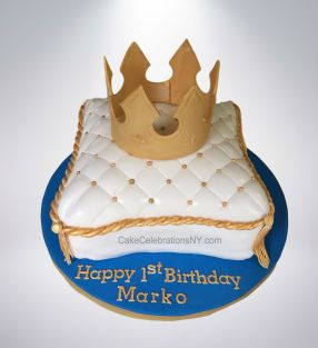 1st Birthday Pillow Cake With Crown