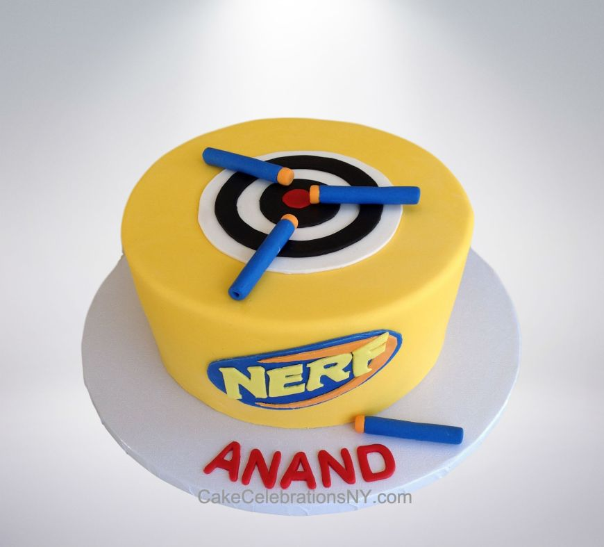 Pleasing Nerf Birthday Cake Cake Celebrations Monroe Ny 845 418 3431 Personalised Birthday Cards Veneteletsinfo