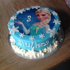 disney Frozen kindertaart