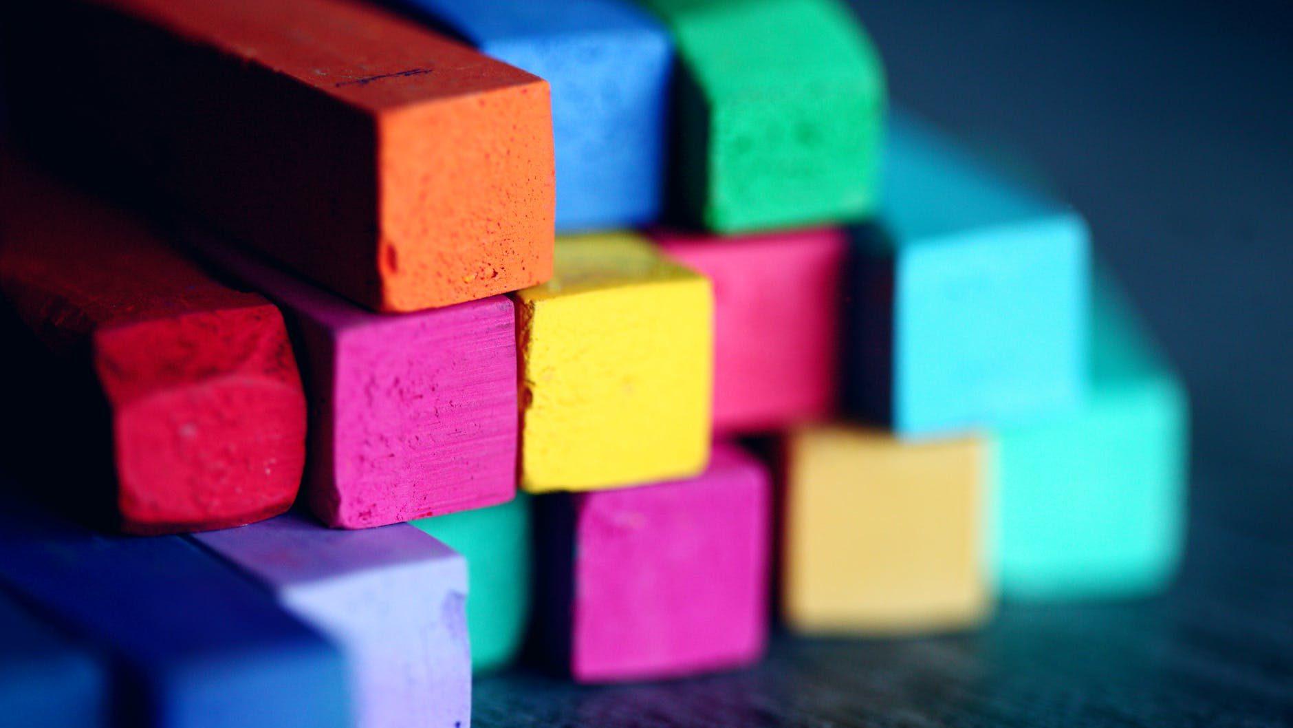assorted color bricks