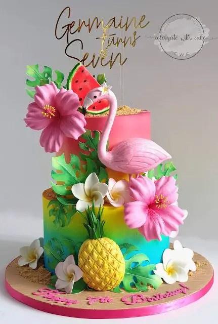 Hawaiian Theme Cake Tutorials Summer Cake Ideas