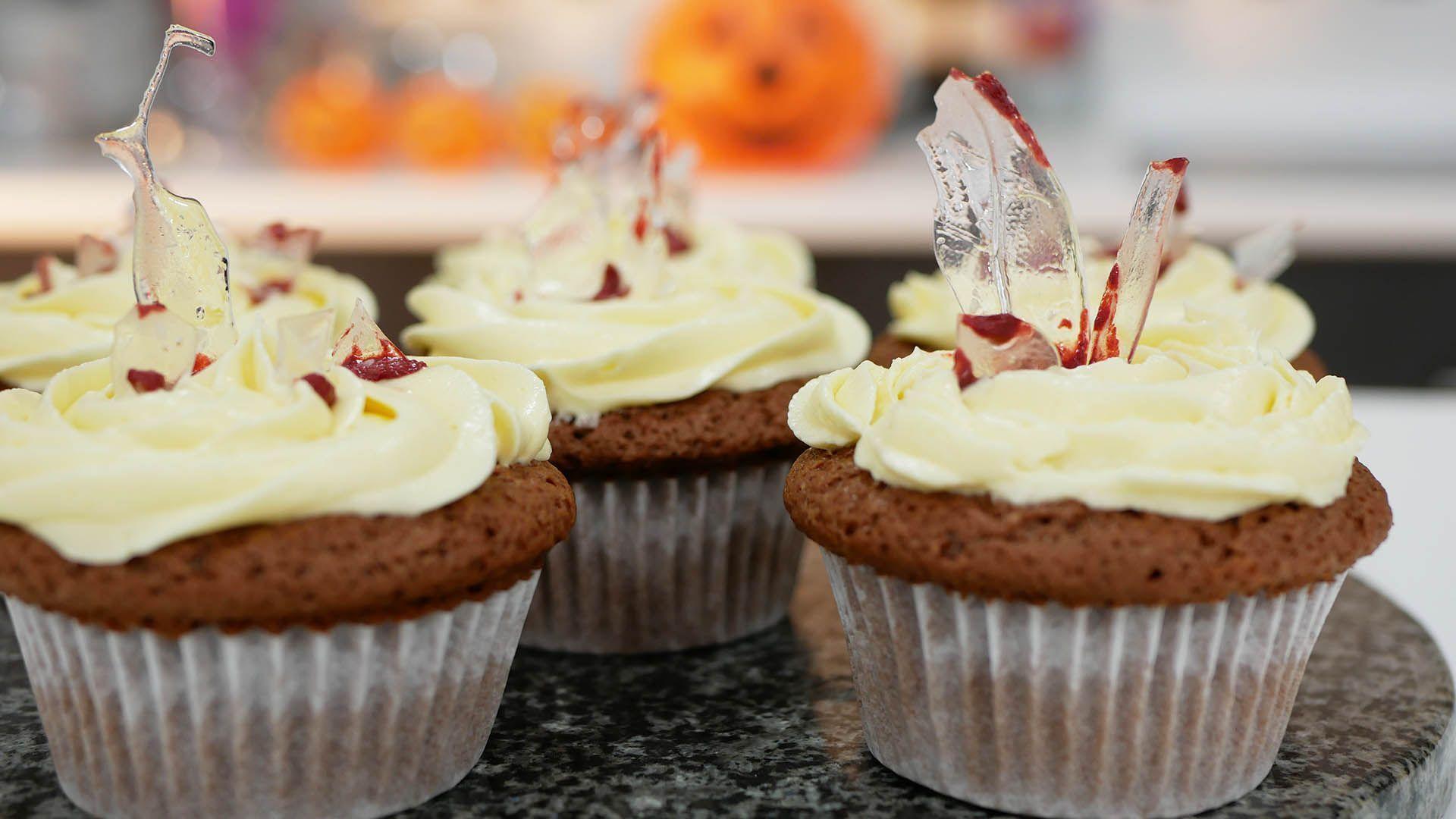Cupcakes sangrientos para halloween
