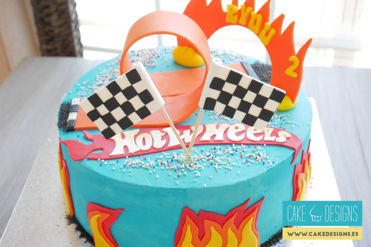 Tarta Hot Wheels