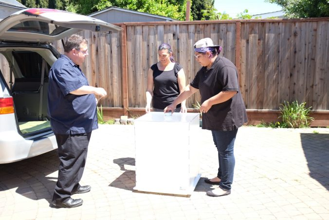 Cake team gets ready to move the CakeSafe