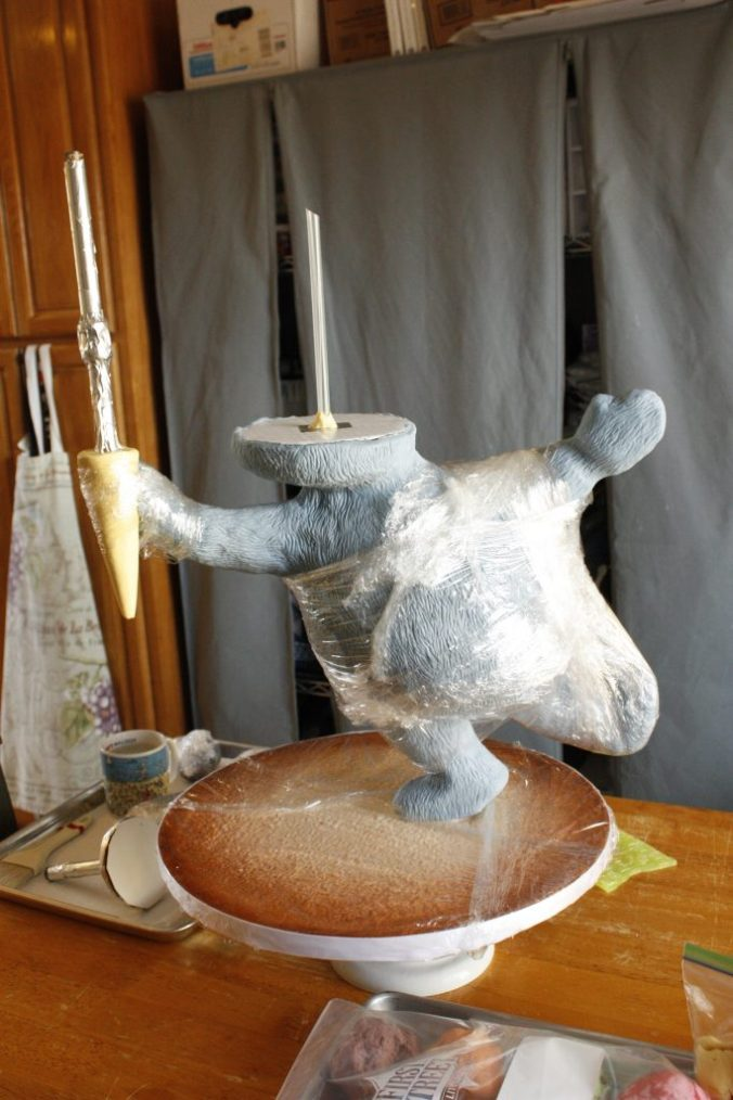 Gravity defying bear cake structure WIP.