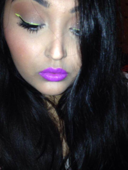 Neon Liner Purple Lips, OCC hoochie, lime crime citreuse