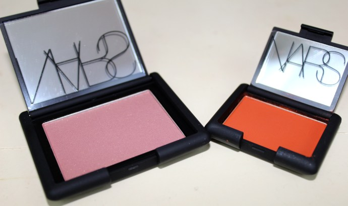 NARS blush in Oasis and eyeshadow in Persia