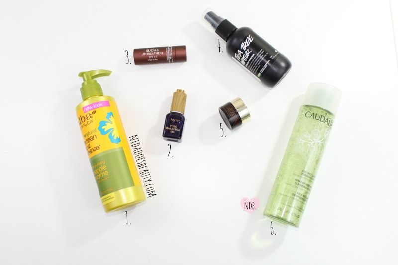 Nighttime skincare products, review, skincare, products, Tarte Maracuja Oil, Caudalie Eye Makeup Remover, Tea Tree Toner, Lip Balm, Sephora