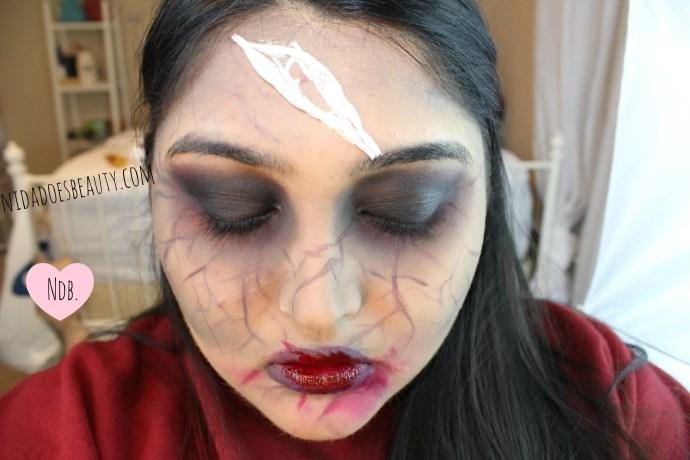 Halloween Makeup Tutorial, Zombie makeup tutorial, day to halloween night makeup, Beginner halloween makeup tutorial, zombies, makeup, beauty, beginner zombie