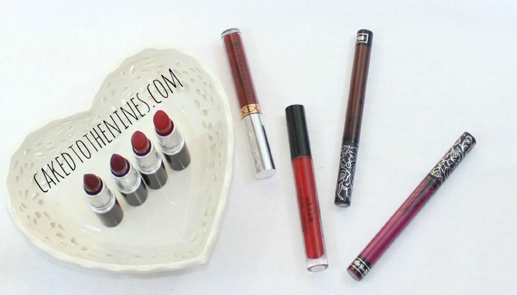 Valentine's Day Lipsticks, best valentine's day lippies, Kat Von D Bauhau5, Vampira, Stila Beso, Anastasia Beverly Hills Heathers, MAC Ruby Woo, Russian Red, Fashion Revival, and Diva.
