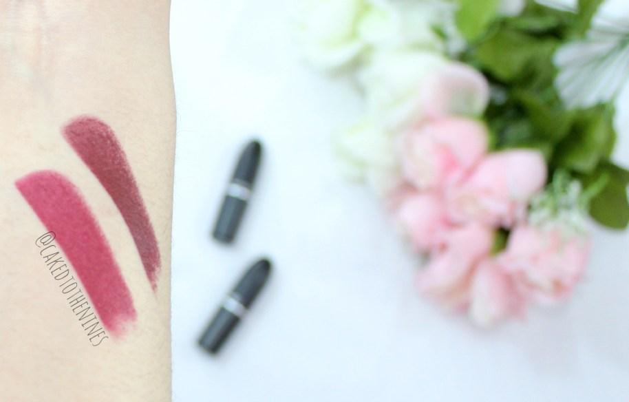 MAC Diva vs Sin, Diva vs Sin, MAC lipstick, MAC diva, MAC sin, MAC lipstick review, comparison, beauty blog