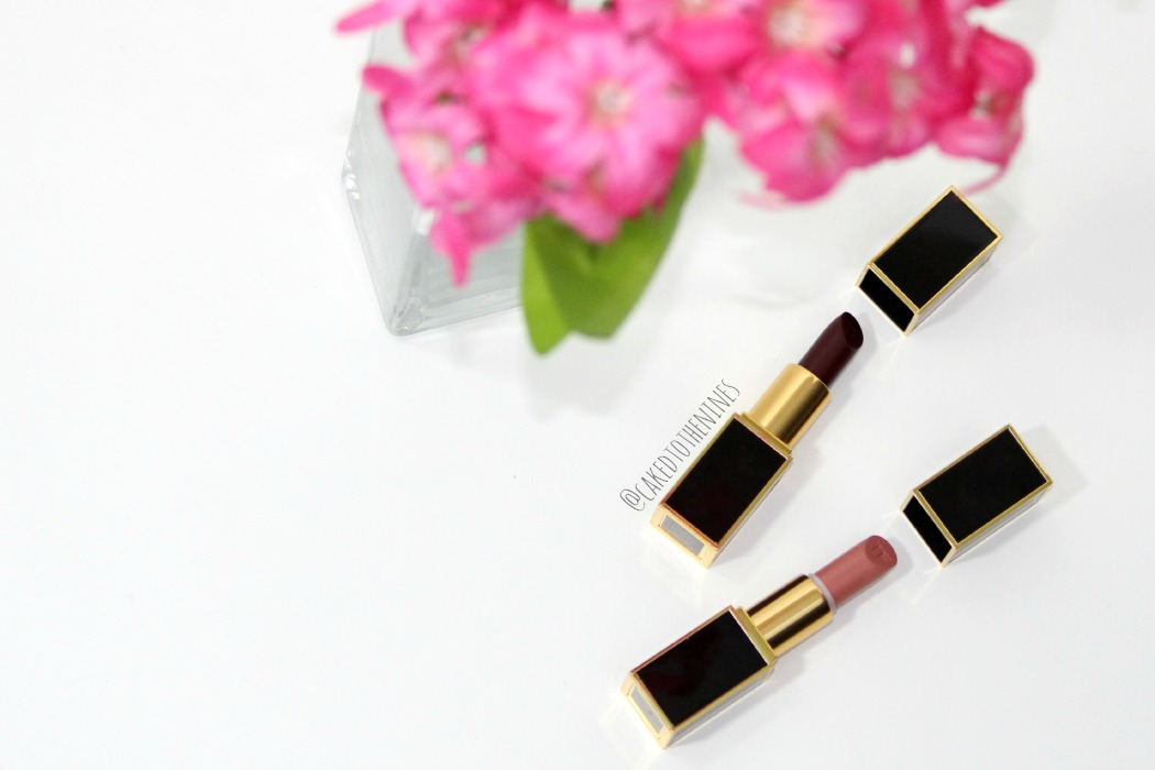 Tom Ford Black Dahlia and First Time lipstick and review