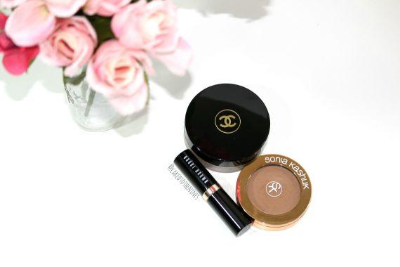Cream bronzers for summer: Chanel Soleil Tan De Chanel, Sonia Kashuk Creme bronzer, and Bobbi Brown foundation stick in Almond