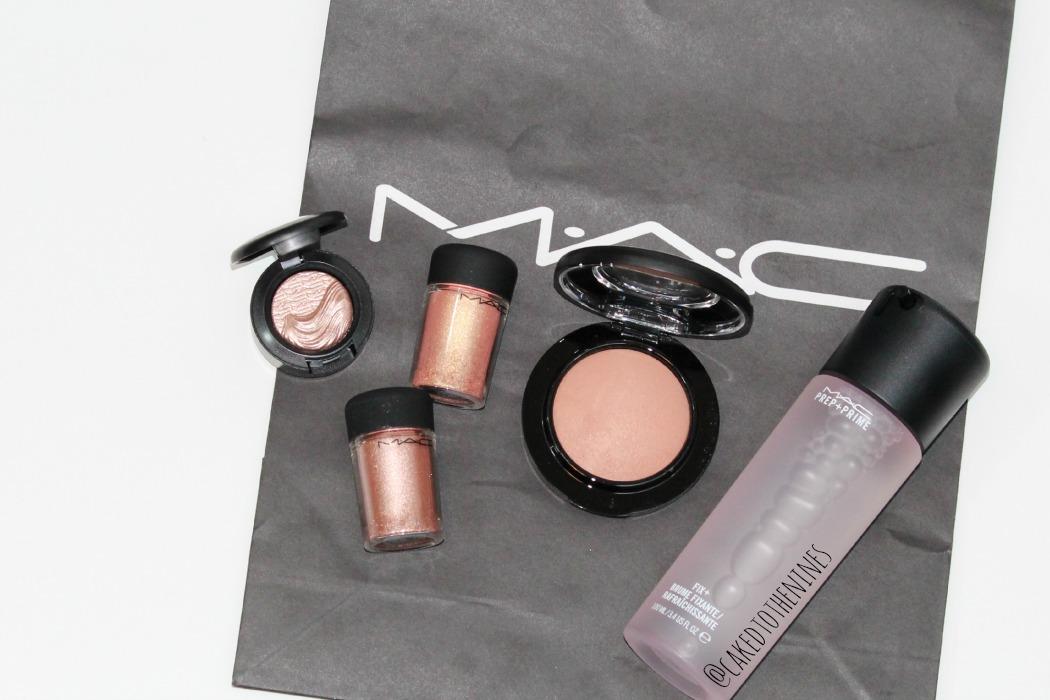 MAC haul, Sweet Heat eyeshadow, MAC Tan pigment, MAC Melon pigment, MAC Warm soul, MAC Fix+ Rose