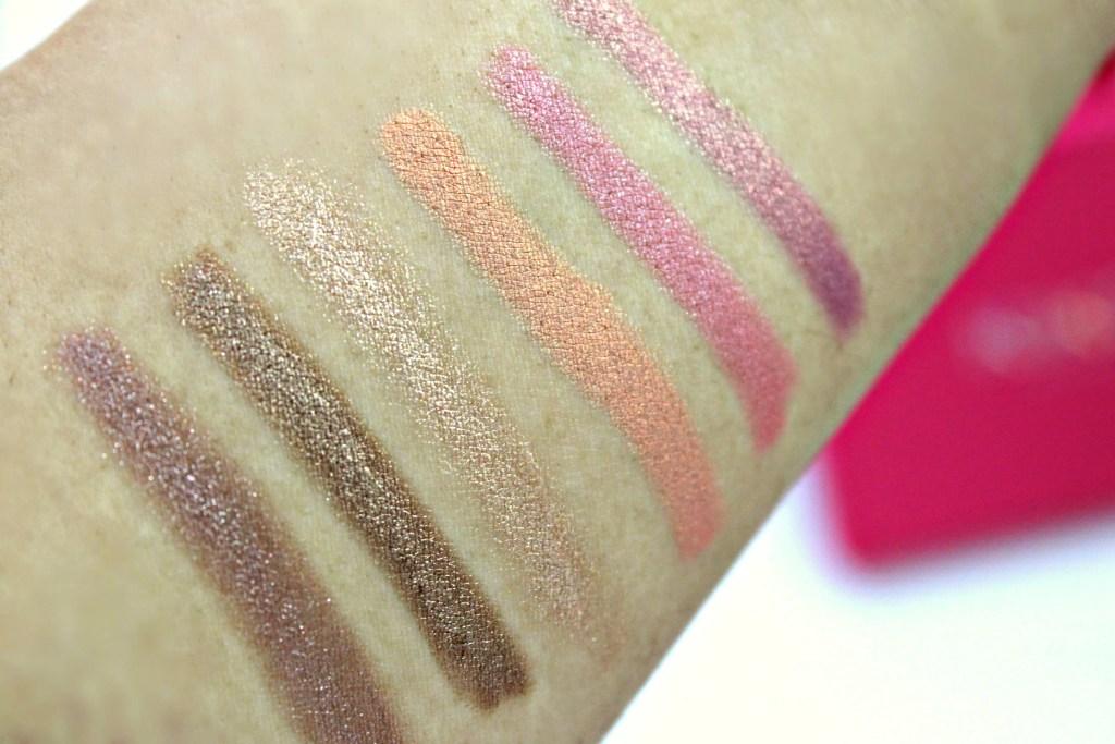 Kiko Milano Long Lasting Stick Eyeshadows left to right: 05, 06, 07, 21, 35, 36