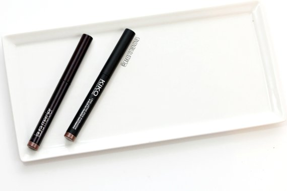 Laura Mercier Amethyst Eyeshadow Stick vs Kiko 05 Eyeshadow Stick, laura mercier amethyst dupe