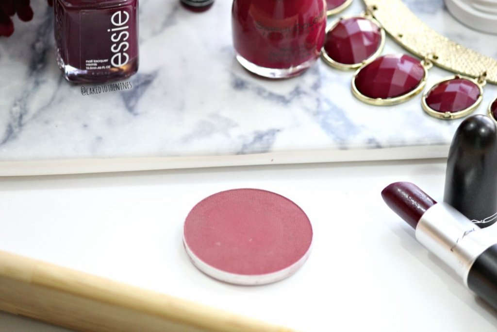Berry toned makeup for fall, MAC fever blush