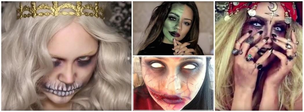 Halloween tutorial roundup, nikkietutorials, Queen of the dead, Jekyll and hyde, kaushal beauty, Nicole Guerriero, demented fortune teller