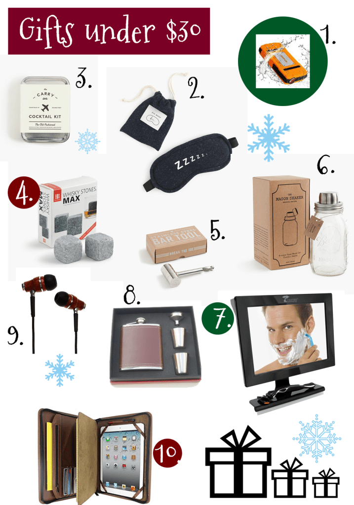 Gift Ideas for men under $30, gift ideas for men, gift ideas for every man