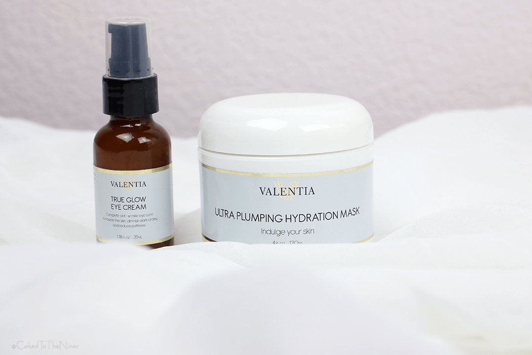 Valentia Beauty True Glow Eye Cream and Ultra Plumping Hydration Mask