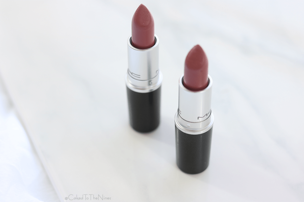 MAC Mehr vs Twig. A comparison plus swatches of the two popular MAC lipsticks