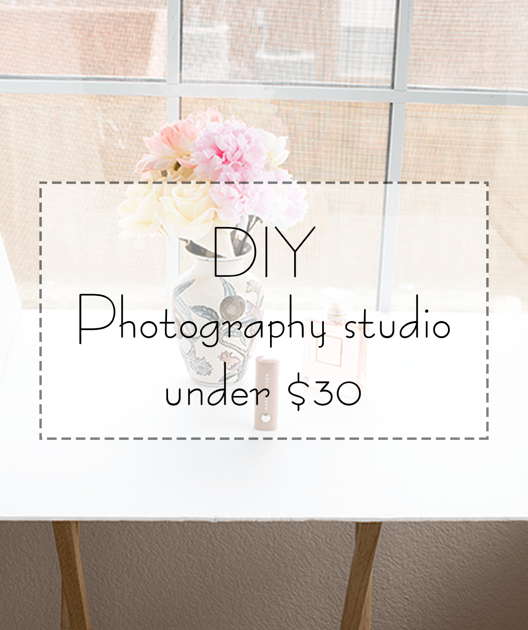 My DIY photography studio for super cheap