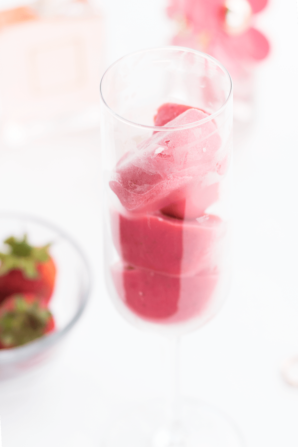 DIY Strawberry Ice Cubes for Clear, Glowing Skin