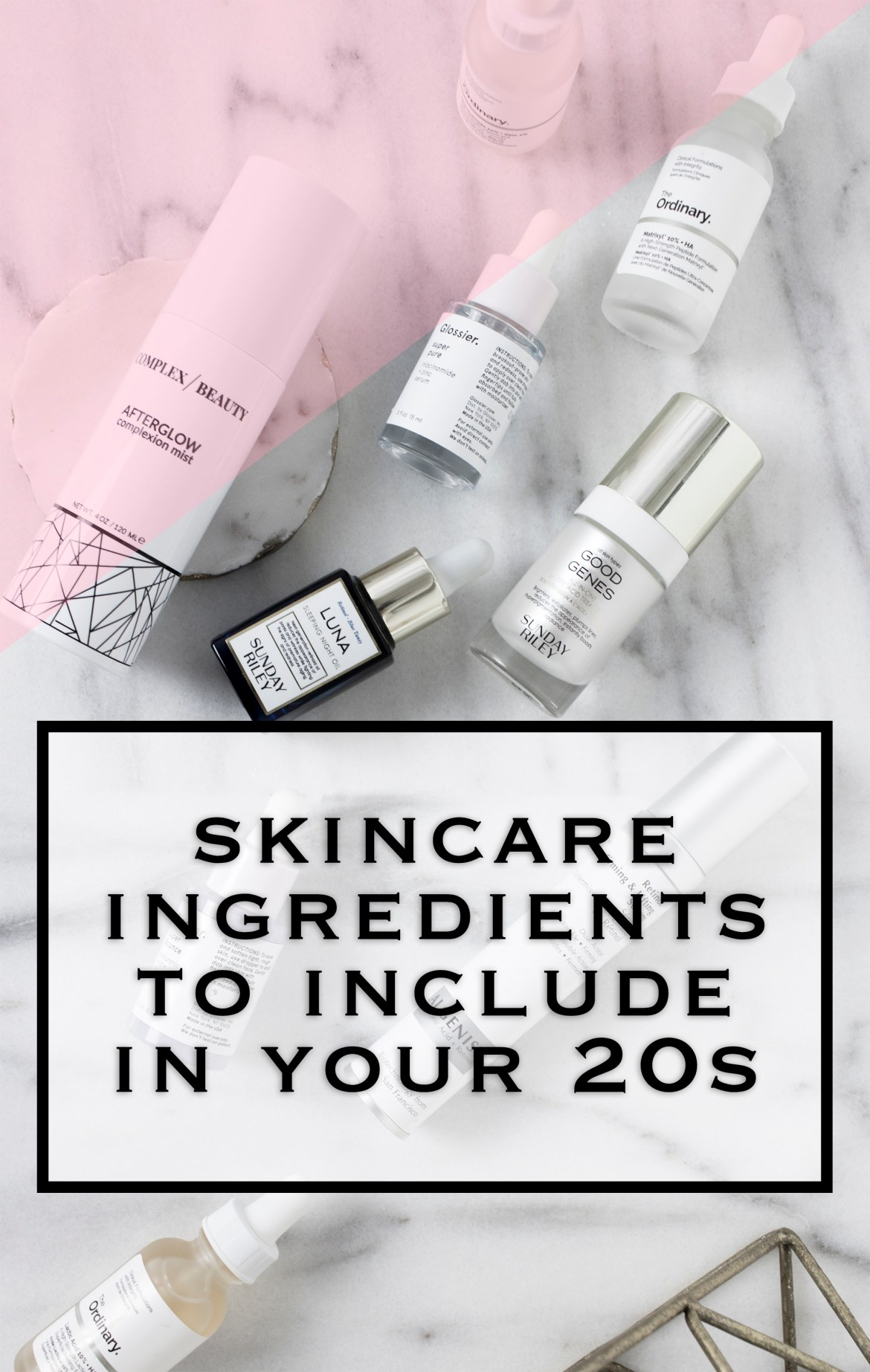 Skincare ingredients to include in your 20s for anti aging