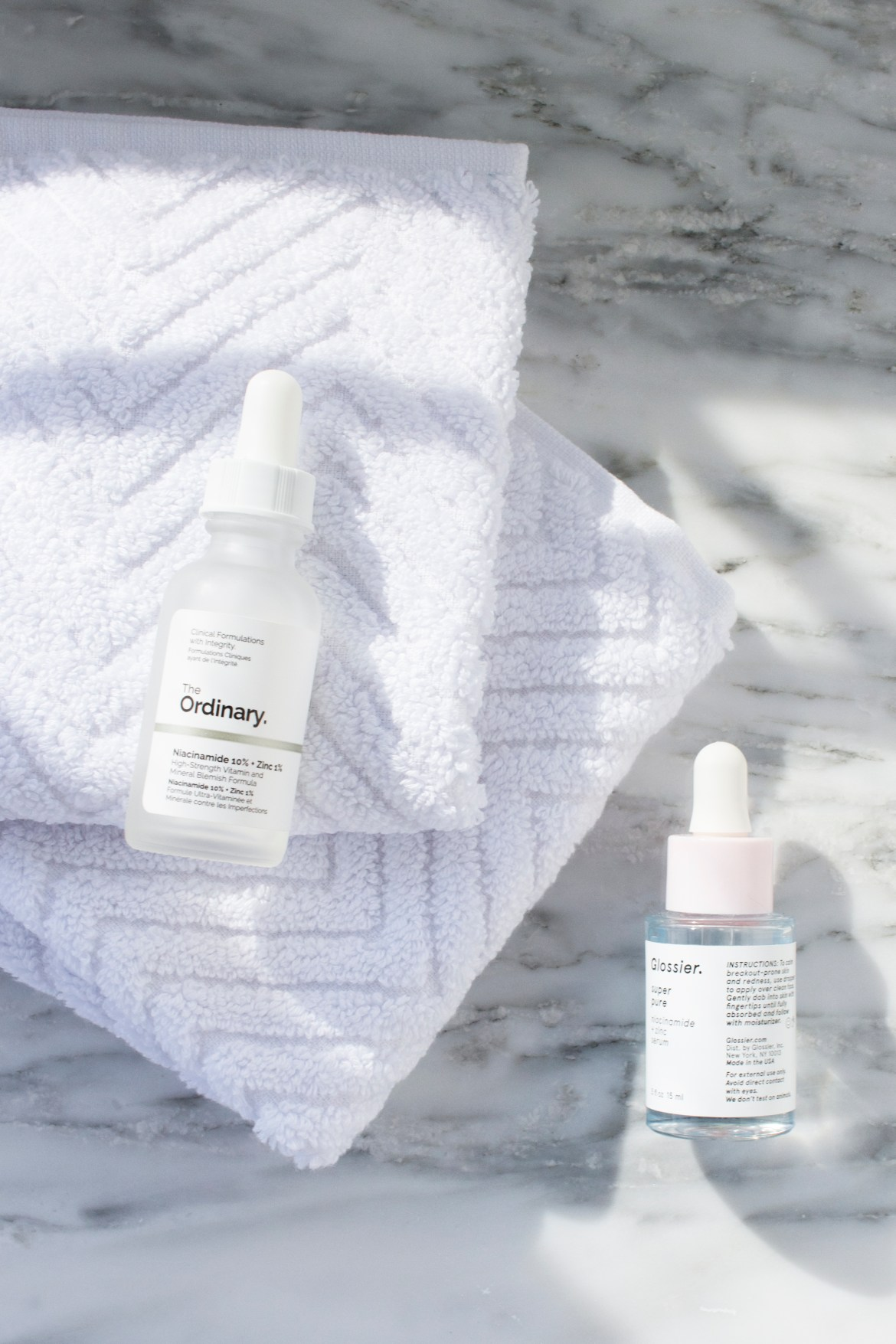 Glossier Super Pure Vs The Ordinary Niacinamide Zinc Serum Caked To The Nines