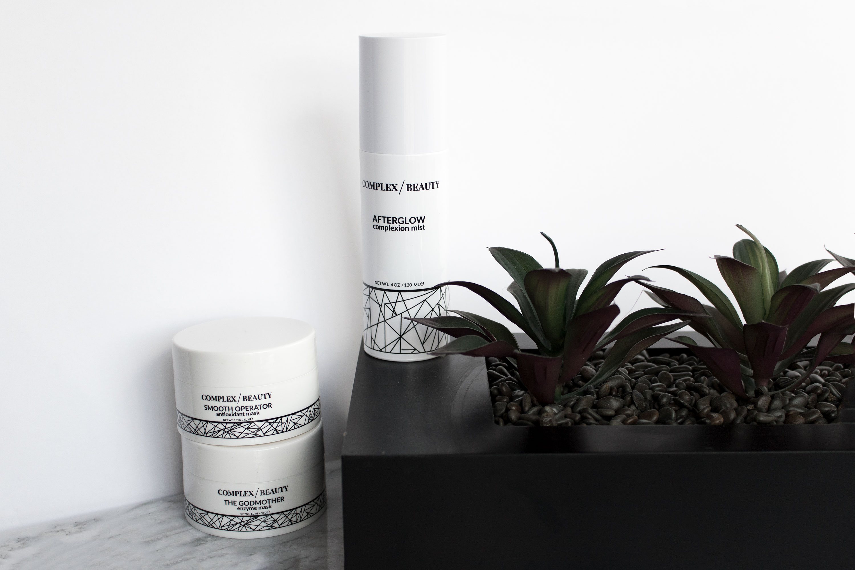Skin Texture: The Products That Helped Me Get Rid of Mine- Complex Beauty Afterglow complexion mist; The Godmother enzyme mask; Smooth Operator antioxidant mask