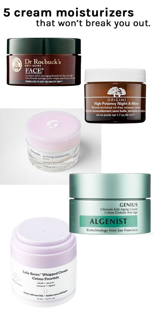 5 cream moisturizers for winter that won't break you out
