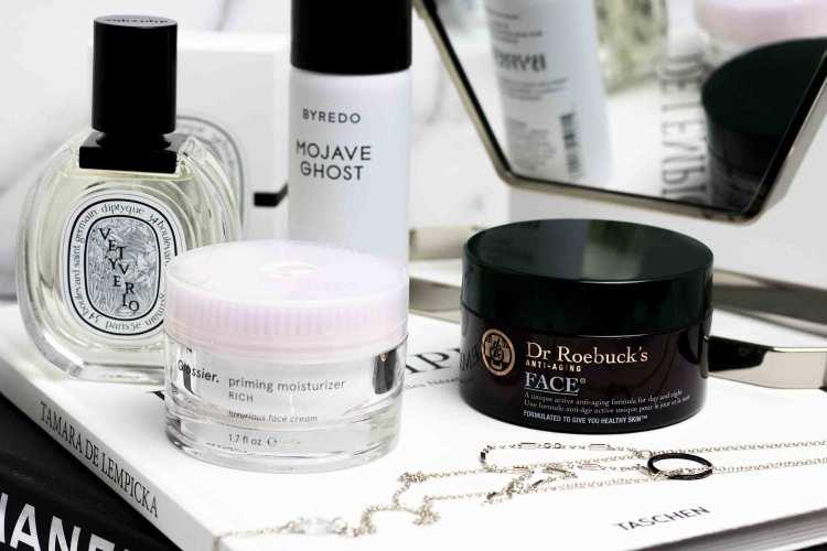 Glossier Priming Moisturizer Rich and Dr. Roebucks Anti Aging moisturizer