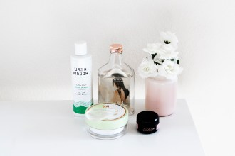Ursa Major body wash, Girl Undiscovered Cleansing Water, Pixi Double Cleanse, Makeup Drop, Get Velvet Skin