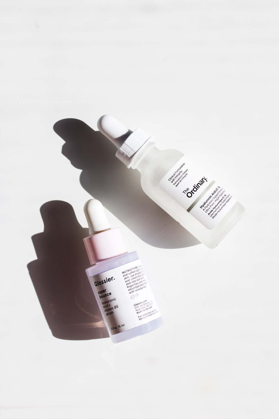 Glossier vs The Ordinary super bounces vs hyaluronic acid serum