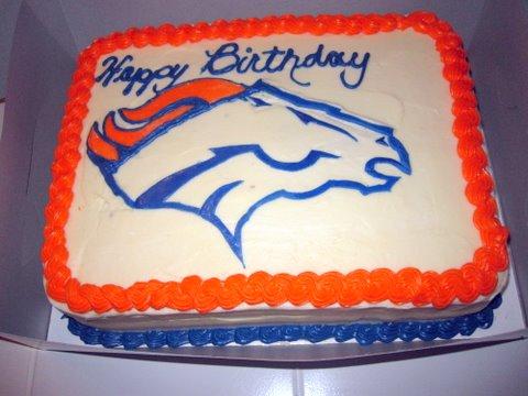 Broncos Birthday Cake Cake Dulce