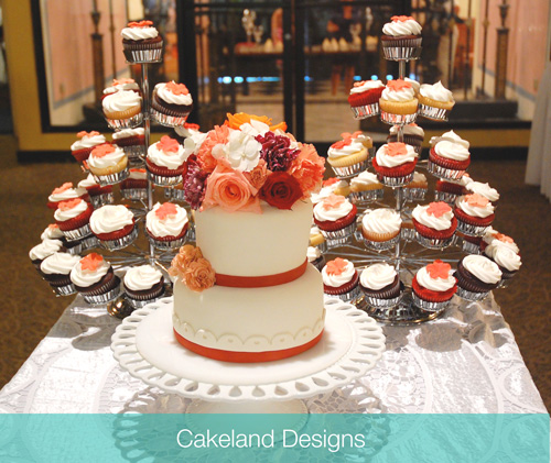 Wedding Cake Amp Cupcake Tree Cakeland Designs Blog