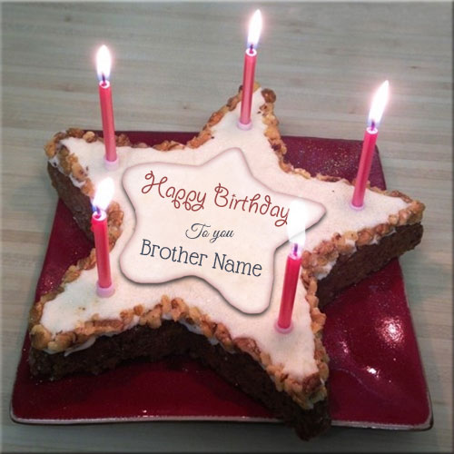 Birthday Cake For Brother With Name And Photo Editor Online